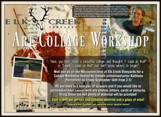 Art Collage Workshop at Elk Creek Vineyards - 9-16-16