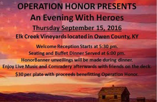 Evening with Heroes Event at Elk Creek Vineyards - 9-15-16