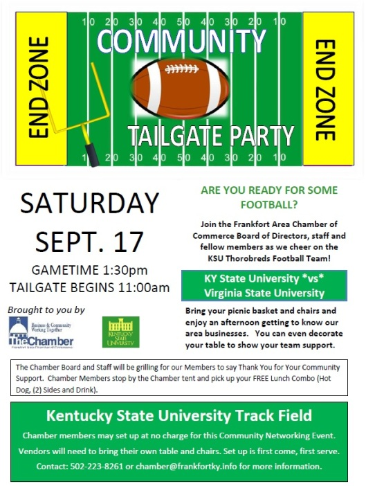 Frankfort Chamber at KSU Community Tailgate Party 2016 - 9-17-16