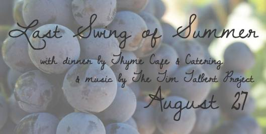 Last Swing of Summer Foodie Event at Equus Run Vineyards - 8-27-16