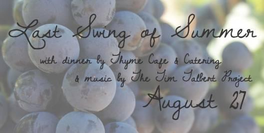 Last Swing of Summer Foodie Event at Equus Run Vineyards - 8-27-16