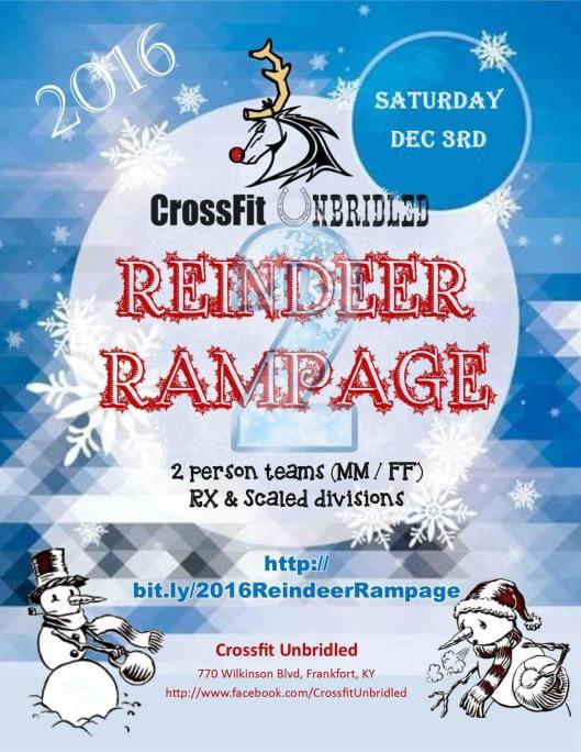 Reindeer Rampage at CrossFit Unbridled - 12-3-16