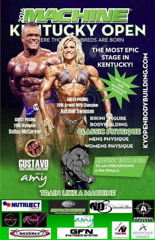 The Machine Kentucky Open BodyBuilding Competition at the Frankfort Convention Center - 8-13-16