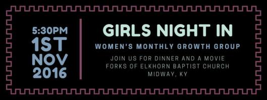 girls-night-in-dinner-and-a-movie-at-forks-of-elkhorn-baptist-church-11-1-16